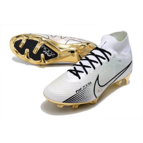 Nouvelle Nike Mercurial Superfly 4 FG Pas Cher Noir Volt
