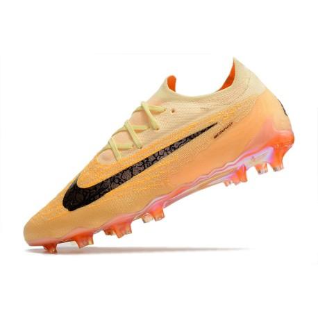 Nouvelle Nike Mercurial Vapor 10 FG Chaussures Hommes Orange Jaune Or Blanc